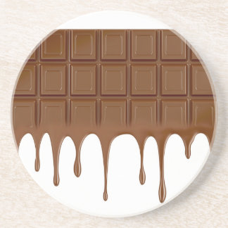 Melted chocolate bar coaster