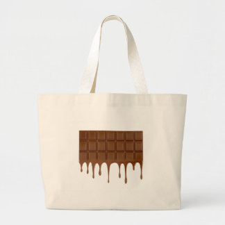Melted chocolate bar large tote bag