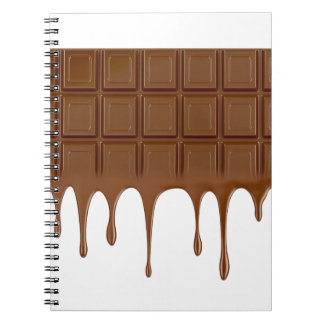 Melted chocolate bar notebook