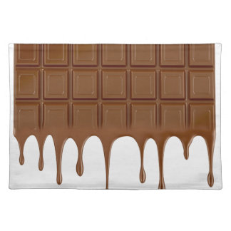 Melted chocolate bar placemat