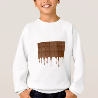 Melted chocolate bar sweatshirt