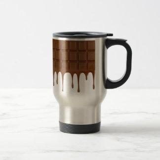 Melted chocolate bar travel mug