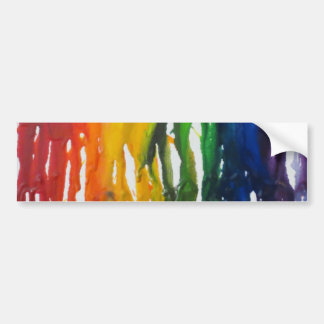 Melted Crayon Bumper Sticker