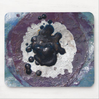 Melted Crayon Puddle Abstract Mouse Pad