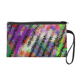 Melted Crayons Abstract Wristlet Purses
