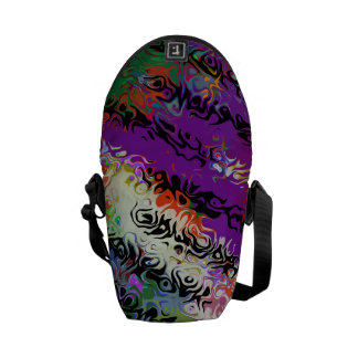 Melted Crayons Abstract Courier Bags