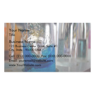 Melted glass vessel with solution business card