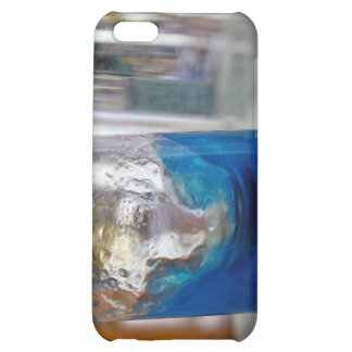 Melted glass vessel with solution iPhone 5C case