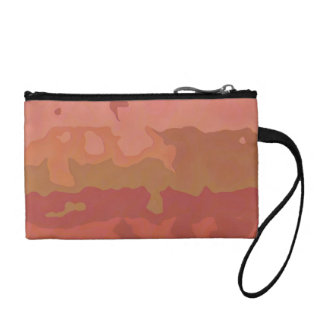 Melted Lipstick - Rosy Beige Abstract Coin Wallets