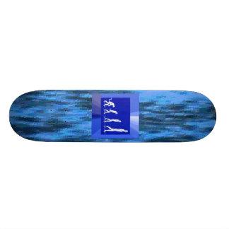 MELTED PLASTIC SWIRLS SKATEBOARD, EVOLUTION CUSTOM SKATE BOARD