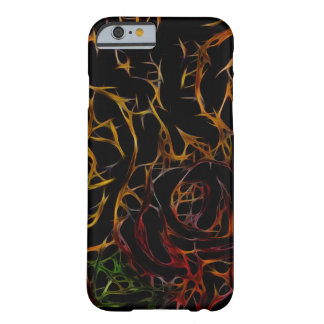 Melted Red Orange Green Black Abstract Light Barely There iPhone 6 Case