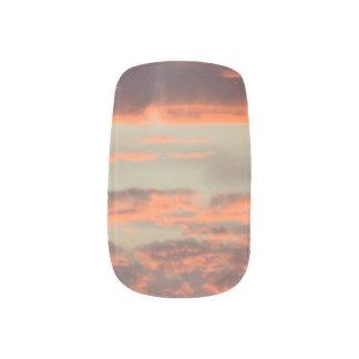 Melted Sunset Minx Nail Art