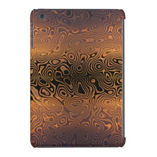 Melted Tiger - Black and Bronze Abstract iPad Mini Cover