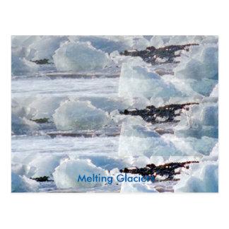 Melting Glaciers Global Warming Manmade Calamities Postcard