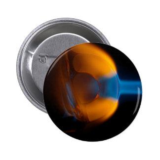 Melting Glass 6 Cm Round Badge
