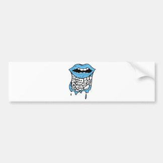 Melting Lips Bumper Sticker