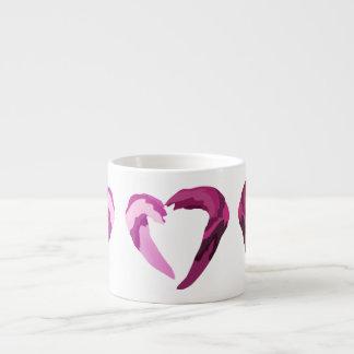 melting purple heart espresso mugs