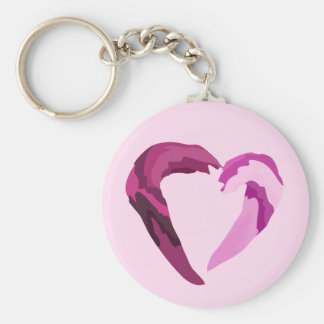 melting purple heart keychain