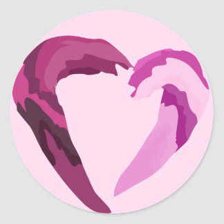 melting purple heart sticker