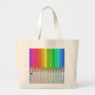 Melting Rainbow Pencils Tote Bags