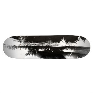 Melting Snow - negative Skate Board Decks