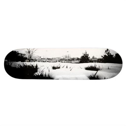 Melting Snow Custom Skateboard