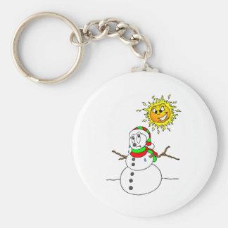 Melting Snowman Key Ring