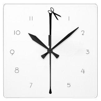 MELTPOINT WHITE Hot Black Scissors Numbered Custom Wall Clocks