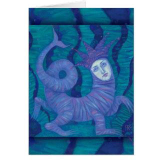 Melusine, Melusina, fantasy, surreal, water spirit Card