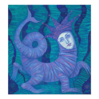 Melusine, Melusina, fantasy, surreal, water spirit Photo Print