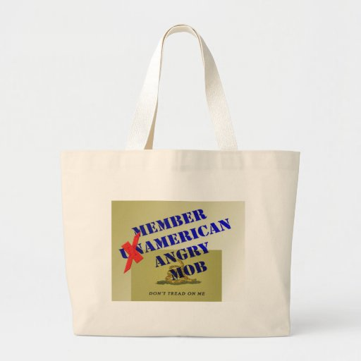 MEMBER American Angry Mob Canvas Bags