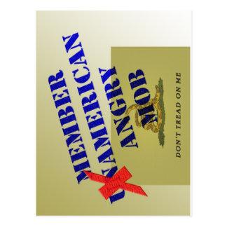 MEMBER American Angry Mob Postcard