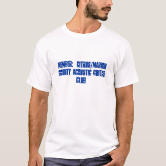 Member:  Citrus/Marion County Acoustic Guitar Club T-Shirt