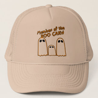 Member of the BOO CREW Funny Ghost Design Trucker Hat