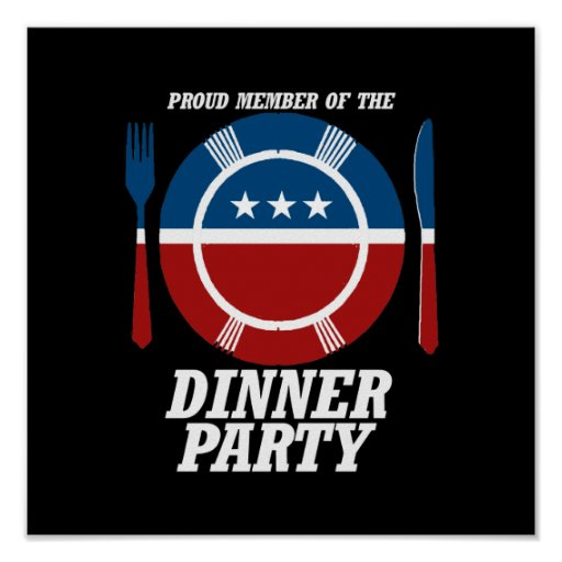 Member of the Dinner Party -.png Print