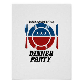 Member of the Dinner Party png Posters