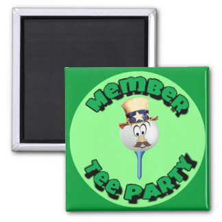 """Member, Tee Party"" - Stickers, Buttons & Magnets"