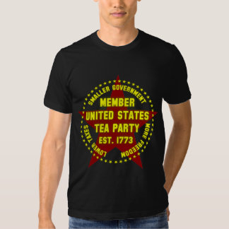 Member United States Tea Party T Shirts