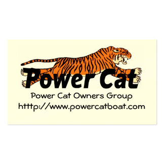 Members Card Power Cat Owners Group Business Cards