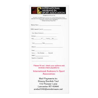 MEMBERSHIP APPLICATION RACK CARD