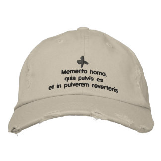 Memento Homo, lent cap - cappello quaresimale Embroidered Baseball Cap