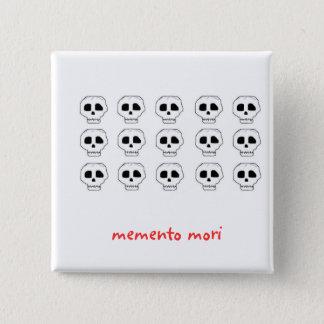 memento mori 15 cm square badge