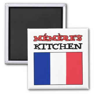 Memere's Kitchen With Flag Of France Magnet