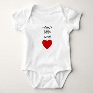 Meme's Little Sweet Heart Baby Bodysuit