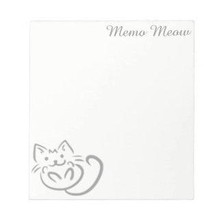 Memo Meow- Memo Pad