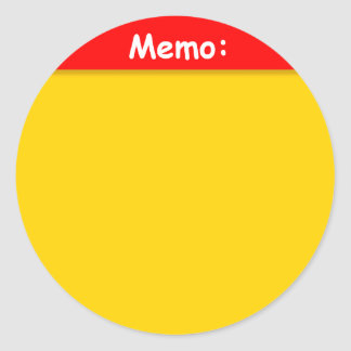 Memo Sticker (Large)