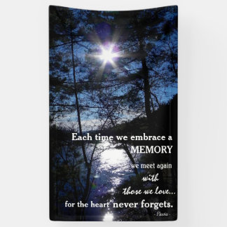 Memorial banner with beautiful quote