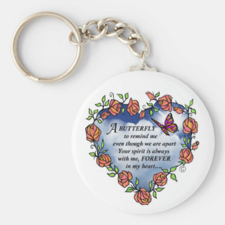 Memorial Butterfly Poem Key Ring
