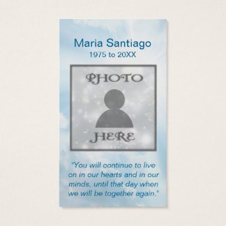 Memorial Card | Cloud Template