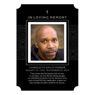 Memorial Card - Cross - Thank You Sympathy Back
